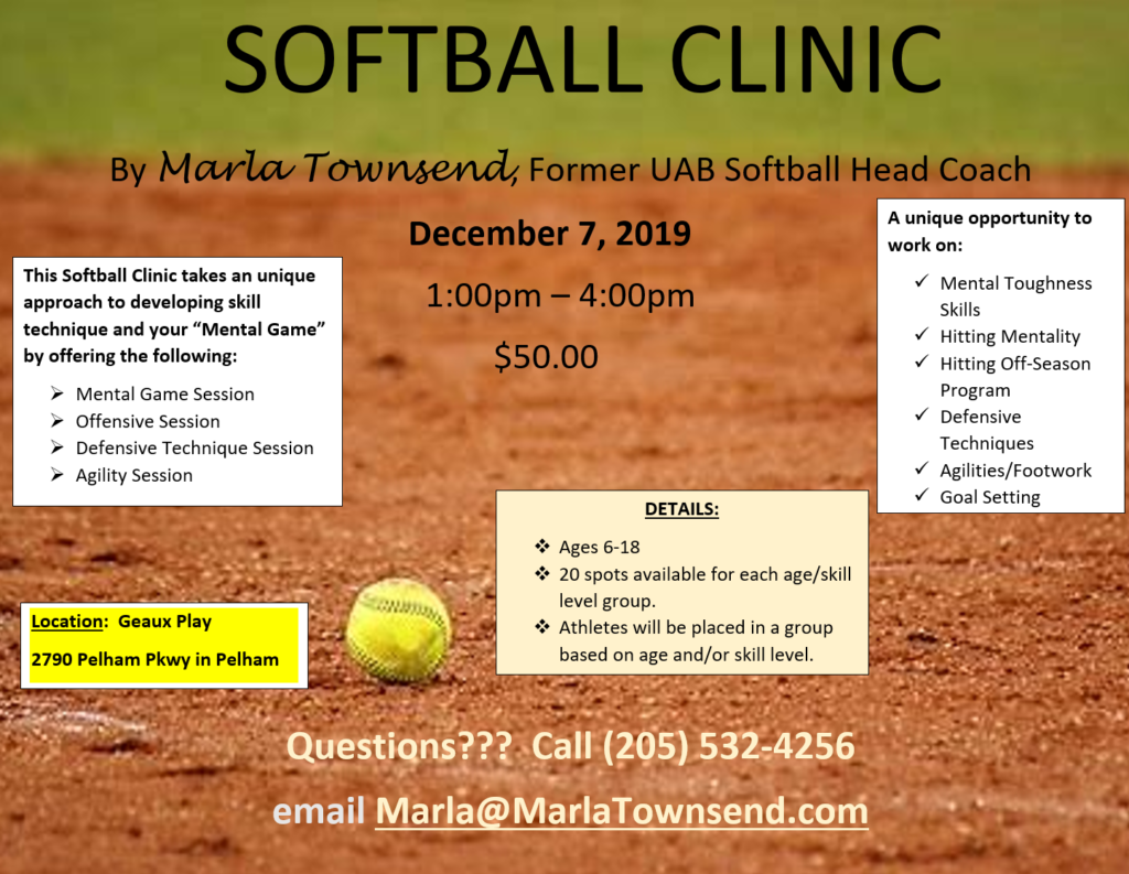 December 7th Softball Clinic